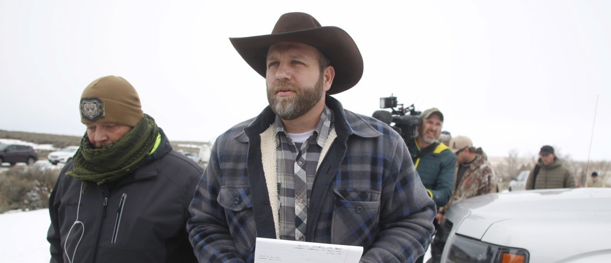 Ammon Bundy arrives to address the media at the Malheur National Wildlife Refuge near Burns, Oregon, January 5, 2016. Saturday's takeover of the Malheur National Wildlife Refuge outside the town of Burns, Oregon, marked the latest protest over federal management of public land in the West, long seen by conservatives in the region as an intrusion on individual rights. REUTERS/Jim Urquhart