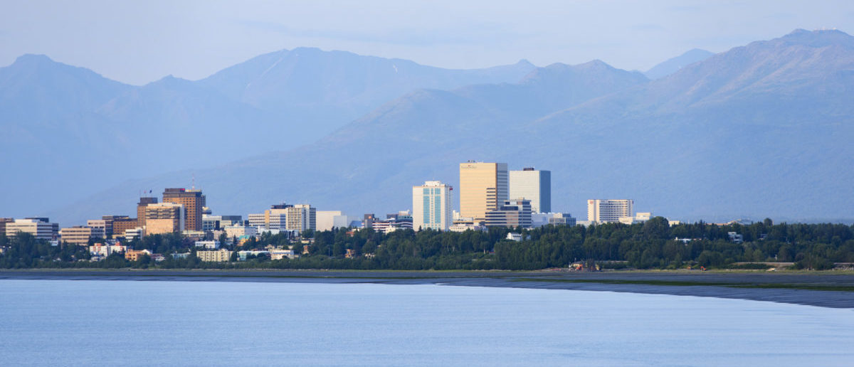Downtown Anchorage sits on a coastal plane between Cook Inlet and the Chugach Mountains, in Alaska, June 24, 2015. REUTERS/Mark Meyer
