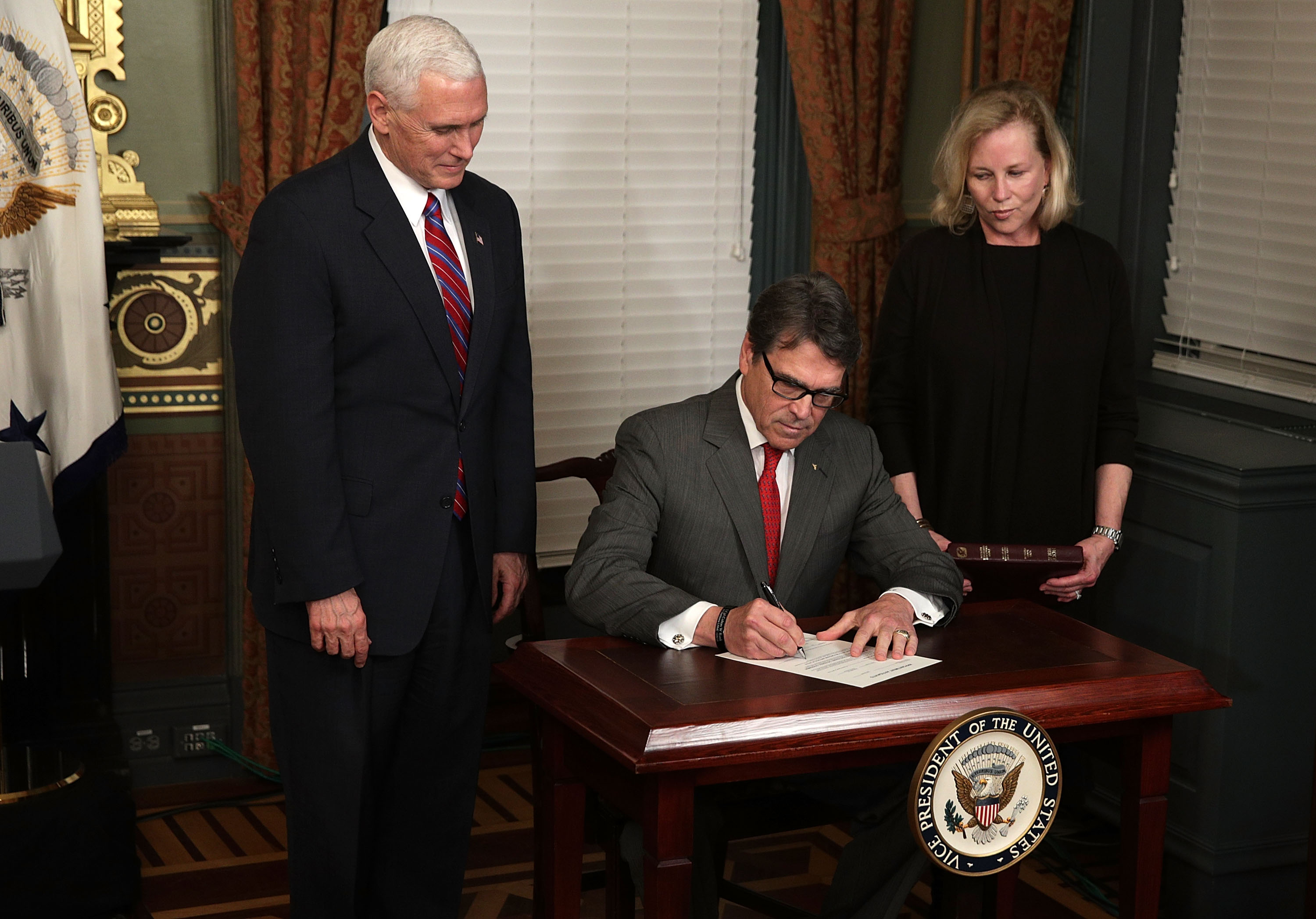 Vice President Pence Swears In Rick Perry As Secretary Of Energy