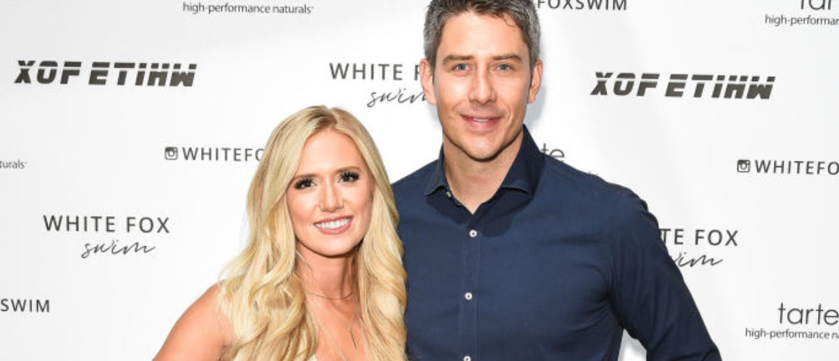 WEST HOLLYWOOD, CA - JULY 26: Lauren Burnham and Arie Luyendyk attend White Fox Boutique Swimwear Launch Of 100% Salty at Catch on July 26, 2018 in West Hollywood, California. (Photo by Presley Ann/Getty Images)