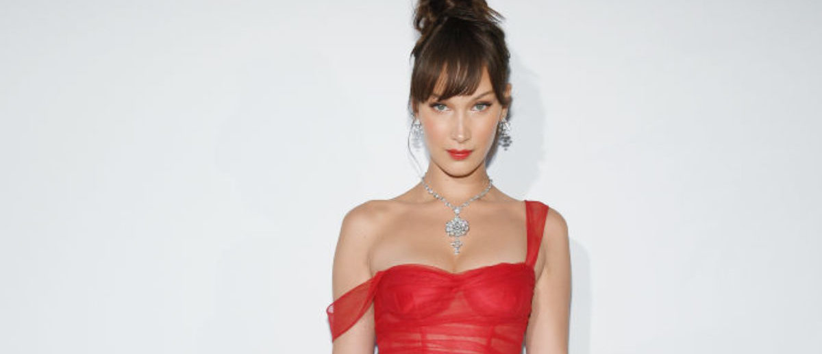 CANNES, FRANCE - MAY 12: Bella Hadid attends a Dior dinner during the 71st annual Cannes Film Festival at JW Marriott on May 12, 2018 in Cannes, France. (Photo by Pascal Le Segretain/Getty Images)