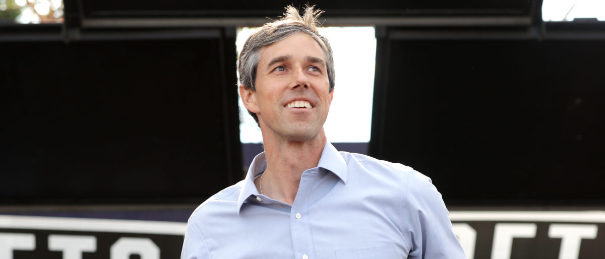 U.S. Senate candidate Rep. Beto O'Rourke (D-TX) addresses a campaign rally at the Pan American Neighborhood Park November 04, 2018 in Austin, Texas. (Chip Somodevilla/Getty Images)