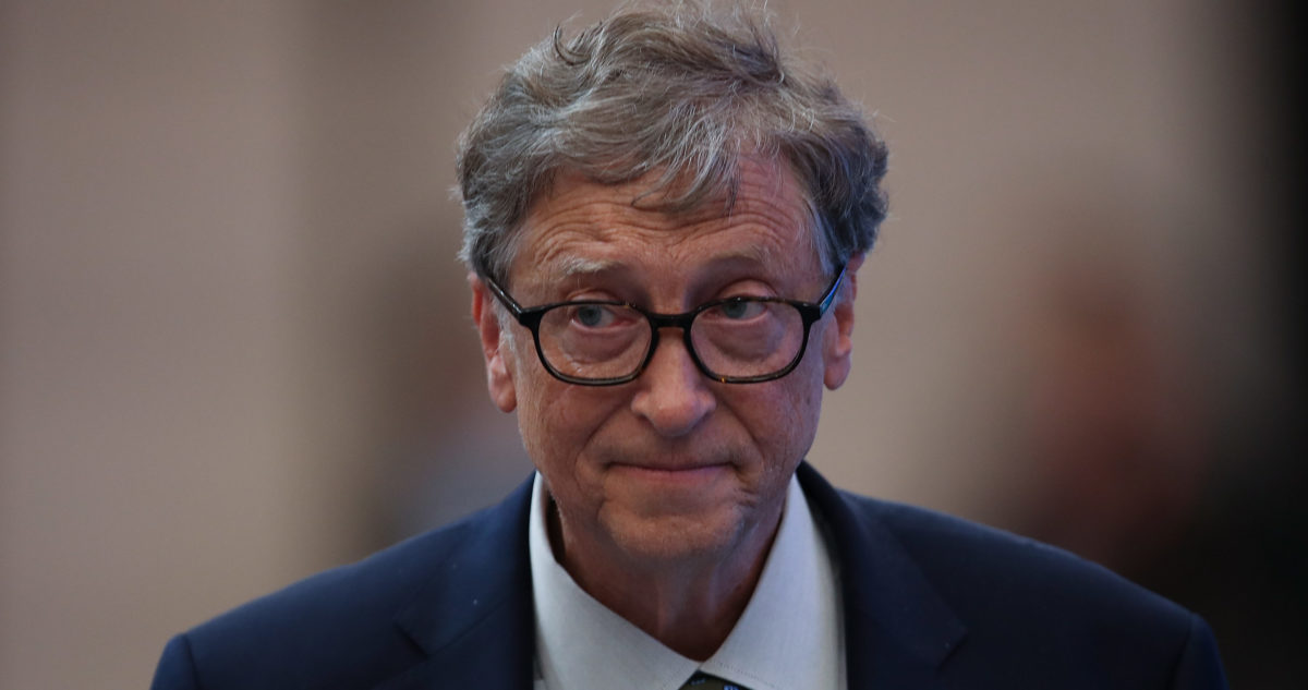 SHANGHAI, CHINA - NOVEMBER 05: Microsoft founder Bill Gates attends a forum at the first China International Import Expo (CIIE) at the National Exhibition and Convention Centre on November 5, 2018 in Shanghai, China. The first China International Import Expo will be held on November 5-10 in Shanghai. (Photo by Lintao Zhang/Getty Images)