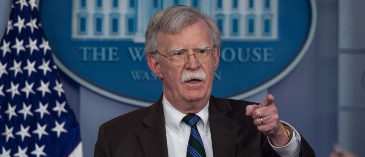 US National Security Advisor John Bolton speaks at a press briefing at the White House in Washington, DC, on November 27, 2018. (NICHOLAS KAMM/AFP/Getty Images)