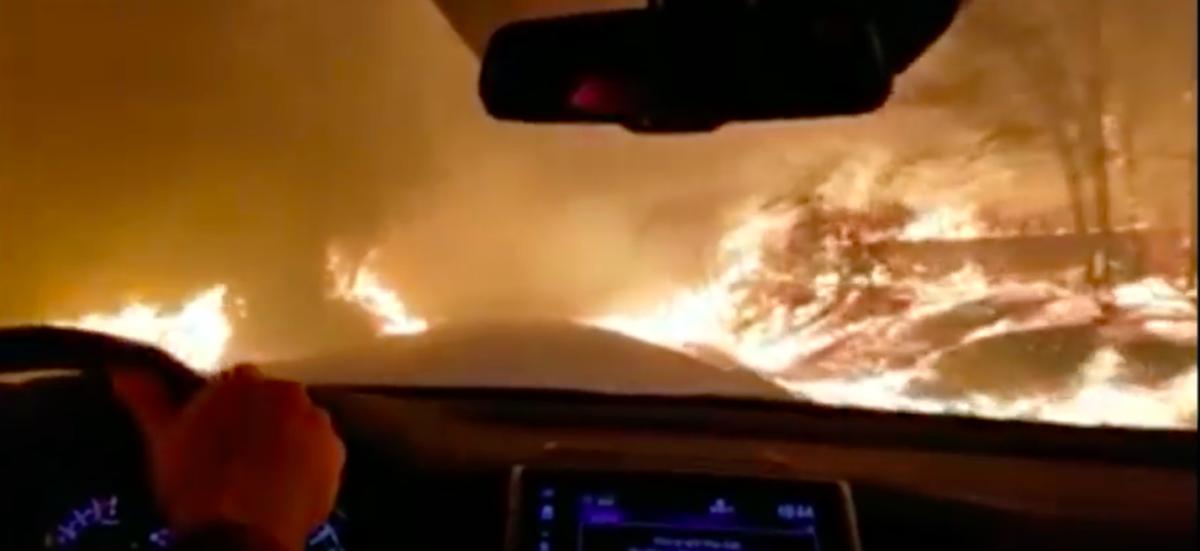 California Fire. YouTube Screengrab