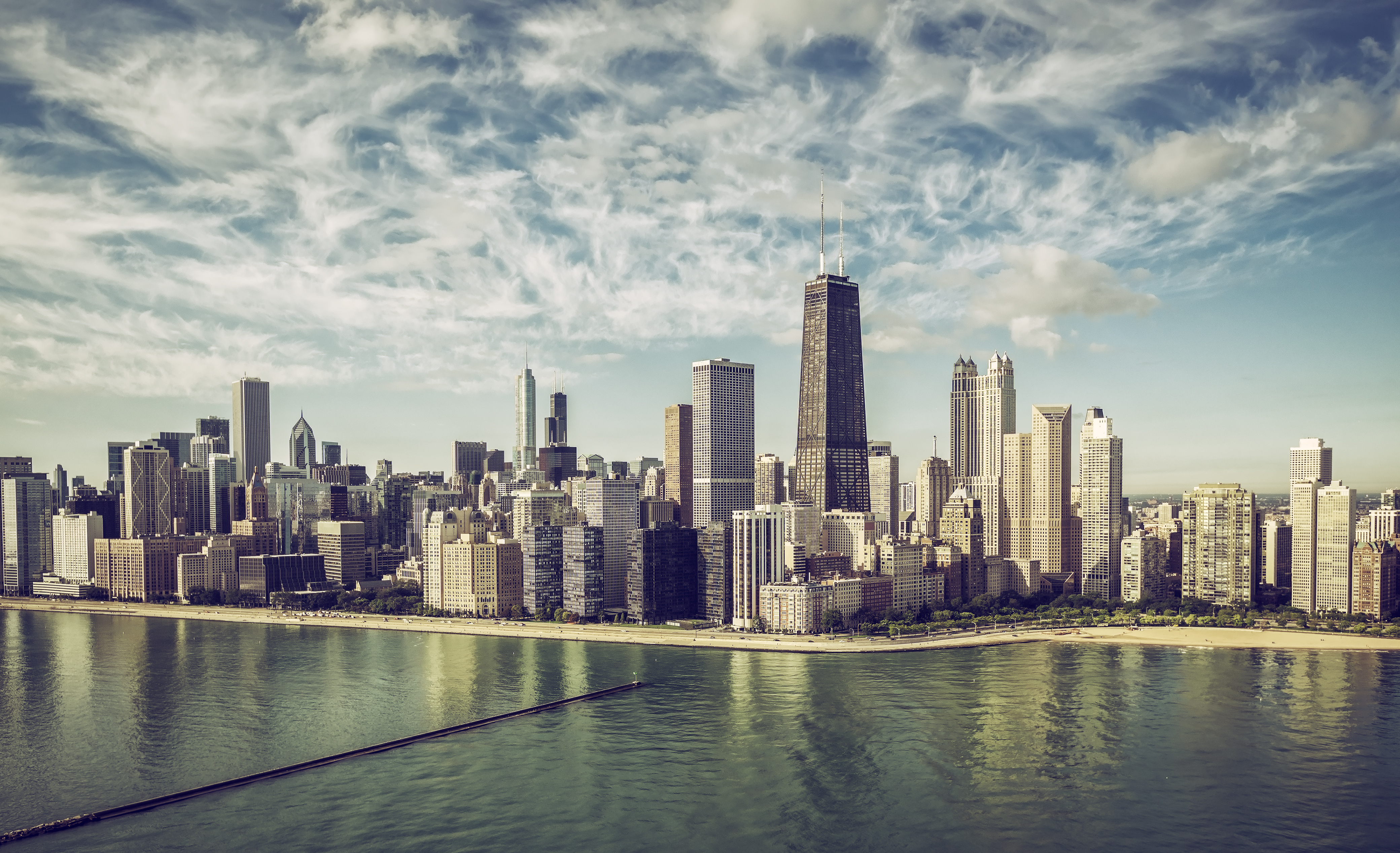 Pictured is the Chicago skyline. SHUTTERSTOCK/ marchello74