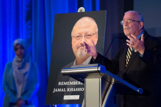 US Congressman Gerry Connolly speaks during a remembrance ceremony for late Washington Post journalist Jamal Khashoggi in Washington, DC, on November 2, 2018. (JIM WATSON/AFP/Getty Images)
