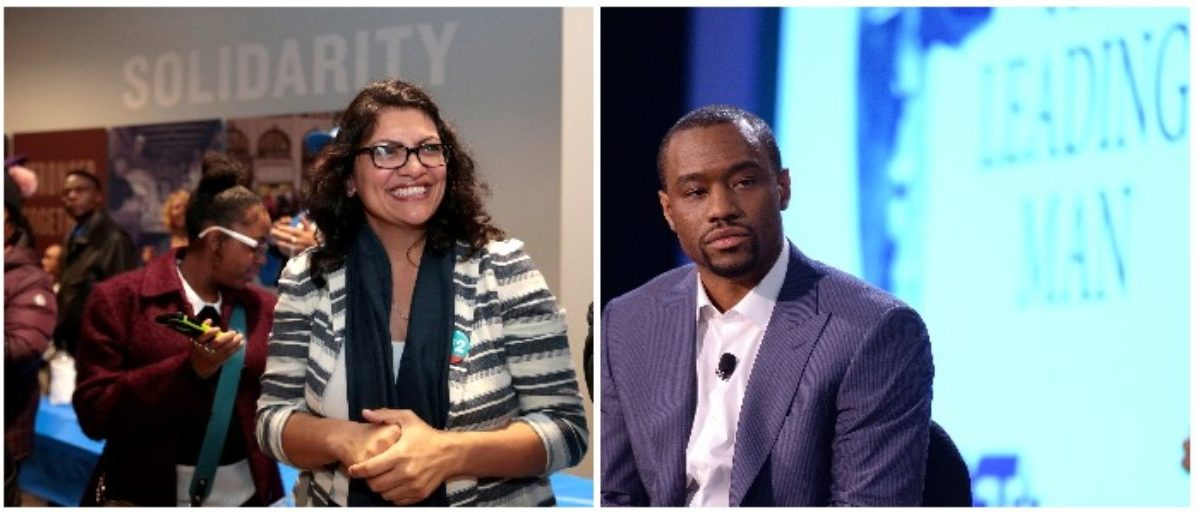 Congresswoman-elect Rashida Tlaib and Marc Lamont Hill (LEFT: REUTERS/Rebecca Cook RIGHT: Andrew H. Walker/Getty Images)