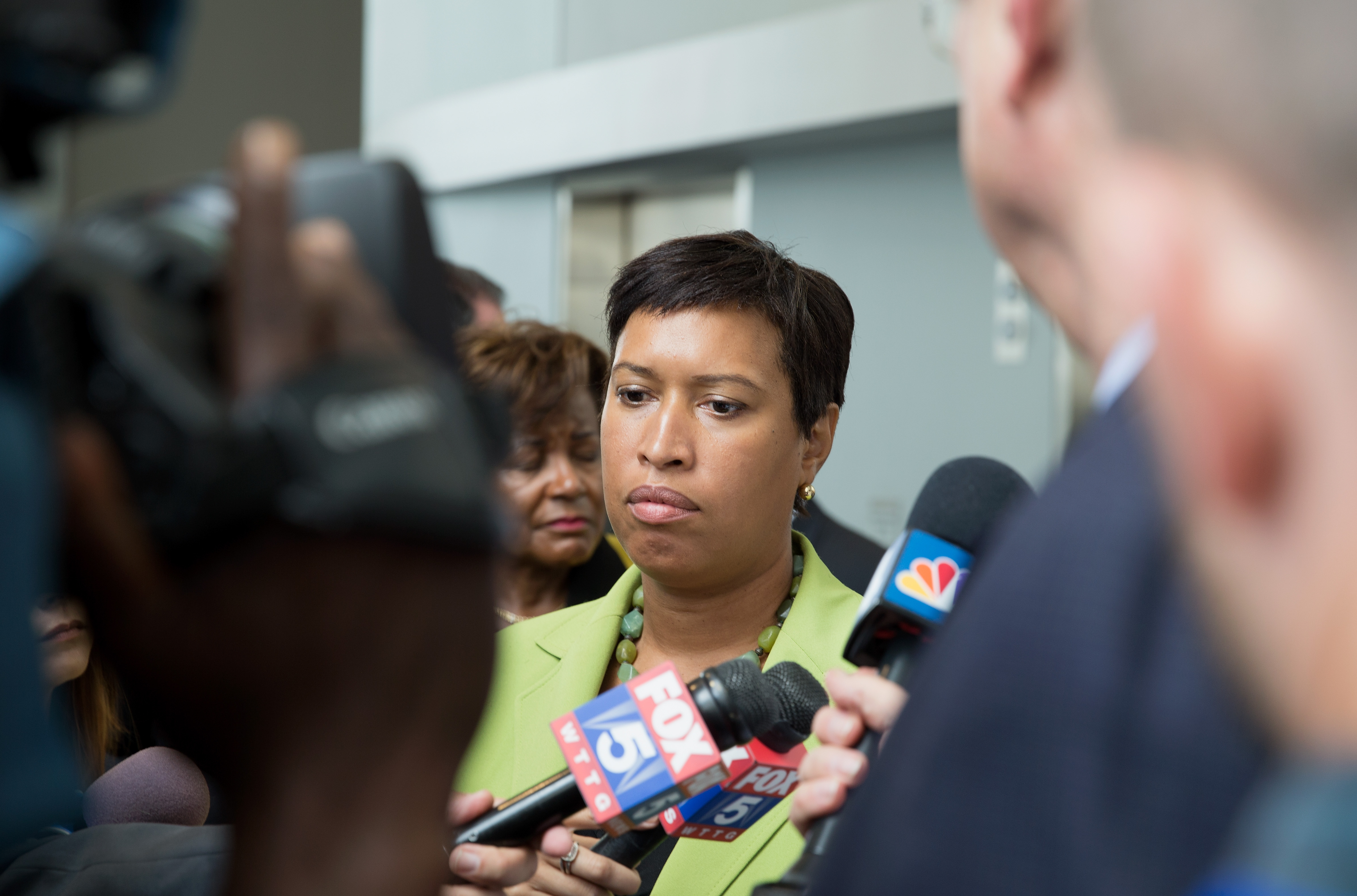 WASHINGTON, DC - JUNE 15: District of Columbia Mayor Muriel Bowser speaks at press conference on June 15, 2017 in Washington, DC. Bowser spoke on the recent arrests related to the Turkish Embassy incident on May 16, 2017 (Photo by Tasos Katopodis/Getty Images)