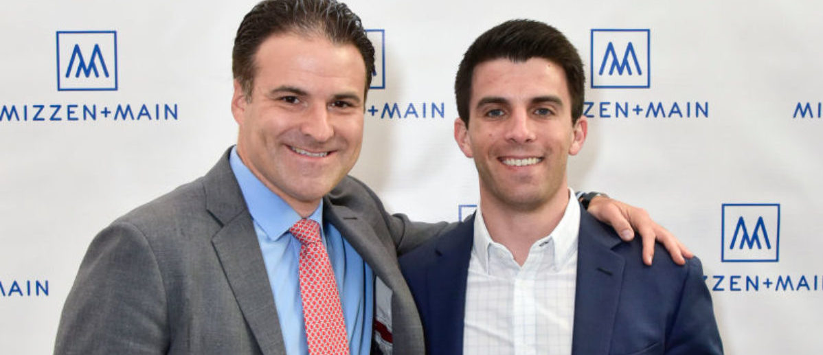NEW YORK, NY - JUNE 15: Kevin Lavelle, and Darren Rovell attend the Mizzen + Main Pop-Up Opening in NYC on June 15, 2017 in New York City. (Photo by Eugene Gologursky/Getty Images for Mizzen + Main)