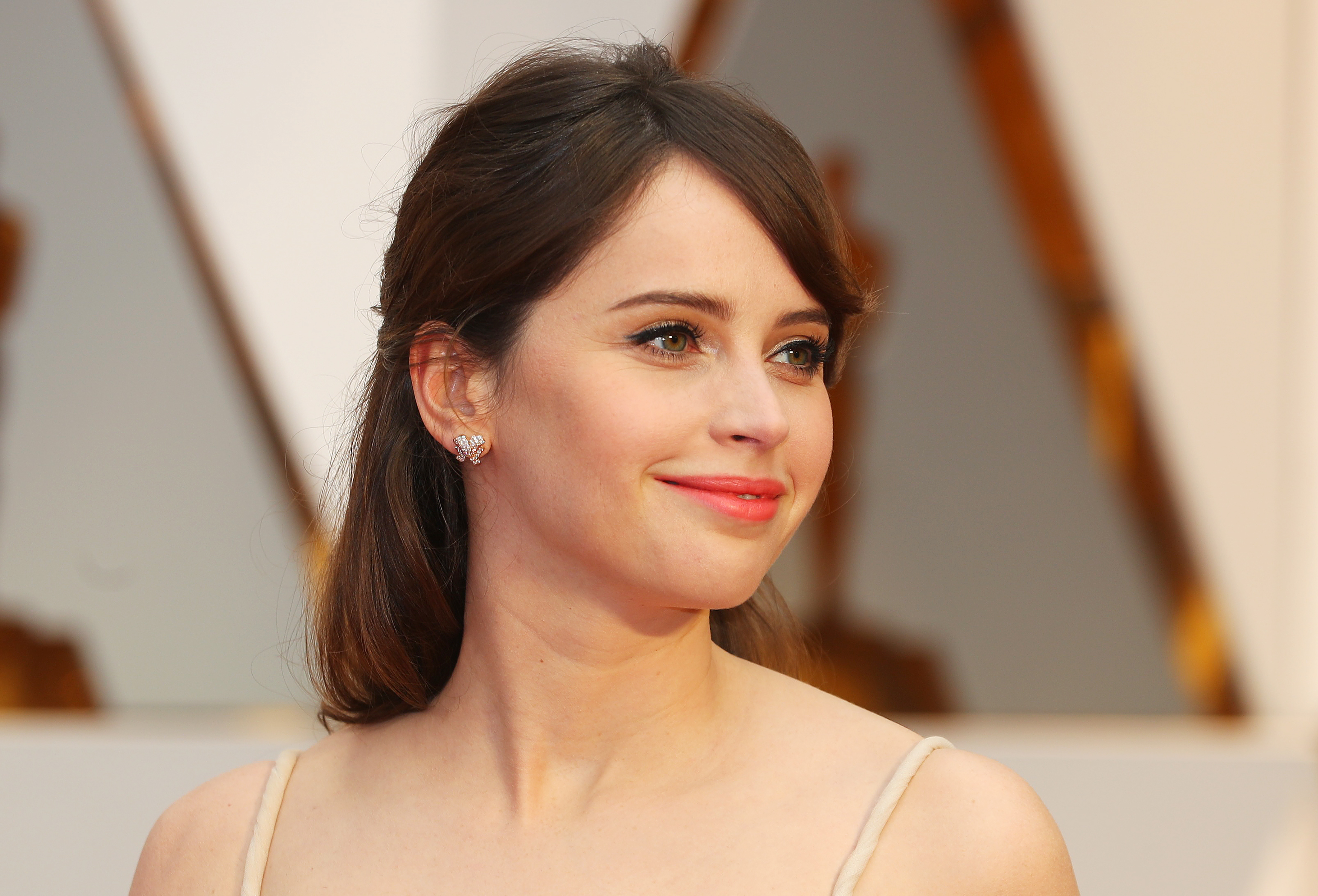 Actress Felicity Jones at the 89th Academy Awards. REUTERS/Mike Blake