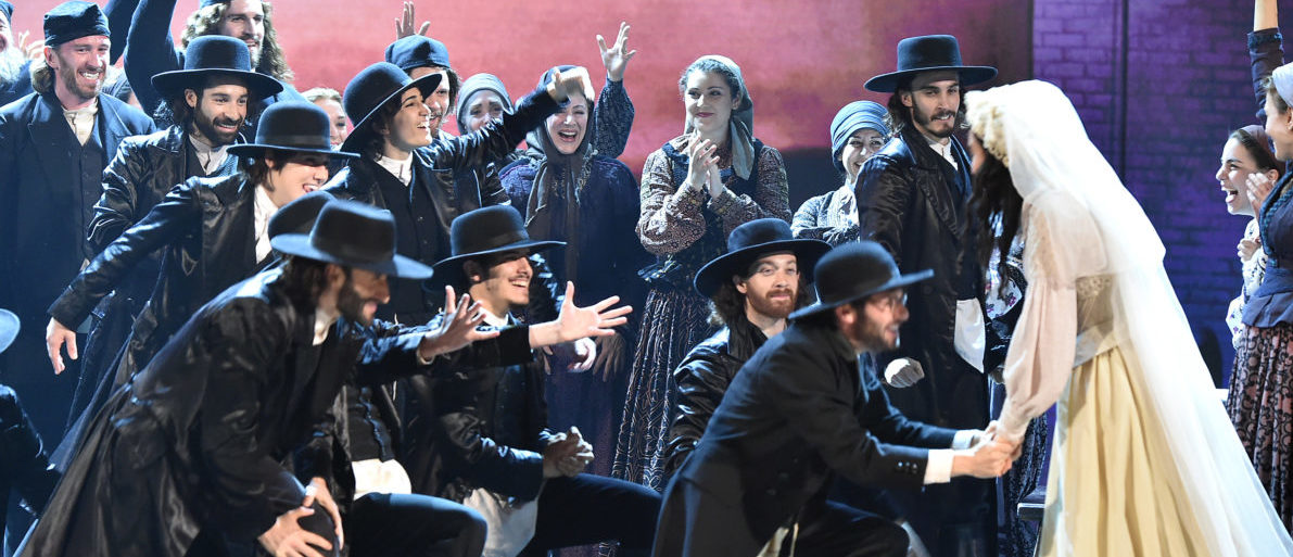 NEW YORK, NY - JUNE 12: The cast of 'Fiddler on the Roof' performs onstage during the 70th Annual Tony Awards at The Beacon Theatre on June 12, 2016 in New York City. (Theo Wargo/Getty Images for Tony Awards Productions)
