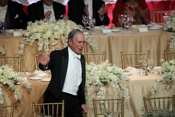 NEW YORK, NY - OCTOBER 18: Former New York City Mayor Michael Bloomberg arrives at the annual Alfred E. Smith Memorial Foundation dinner, October 18, 2018 in New York City. The annual white-tie dinner raises money for Catholic charities. The foundation honors the late Alfred E. Smith, former governor of New York and America's first Catholic presidential nominee. (Photo by Drew Angerer/Getty Images)