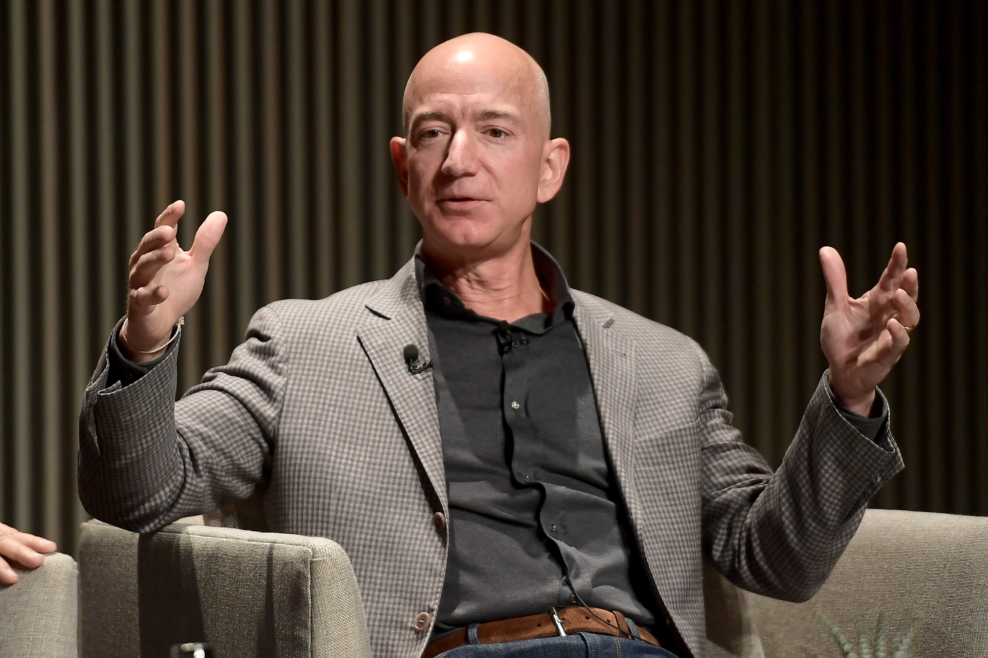 Jeff Bezos speaks onstage at WIRED25 Summit: WIRED Celebrates 25th Anniversary With Tech Icons Of The Past & Future on October 15, 2018 in San Francisco, California. Matt Winkelmeyer/Getty Images for WIRED25