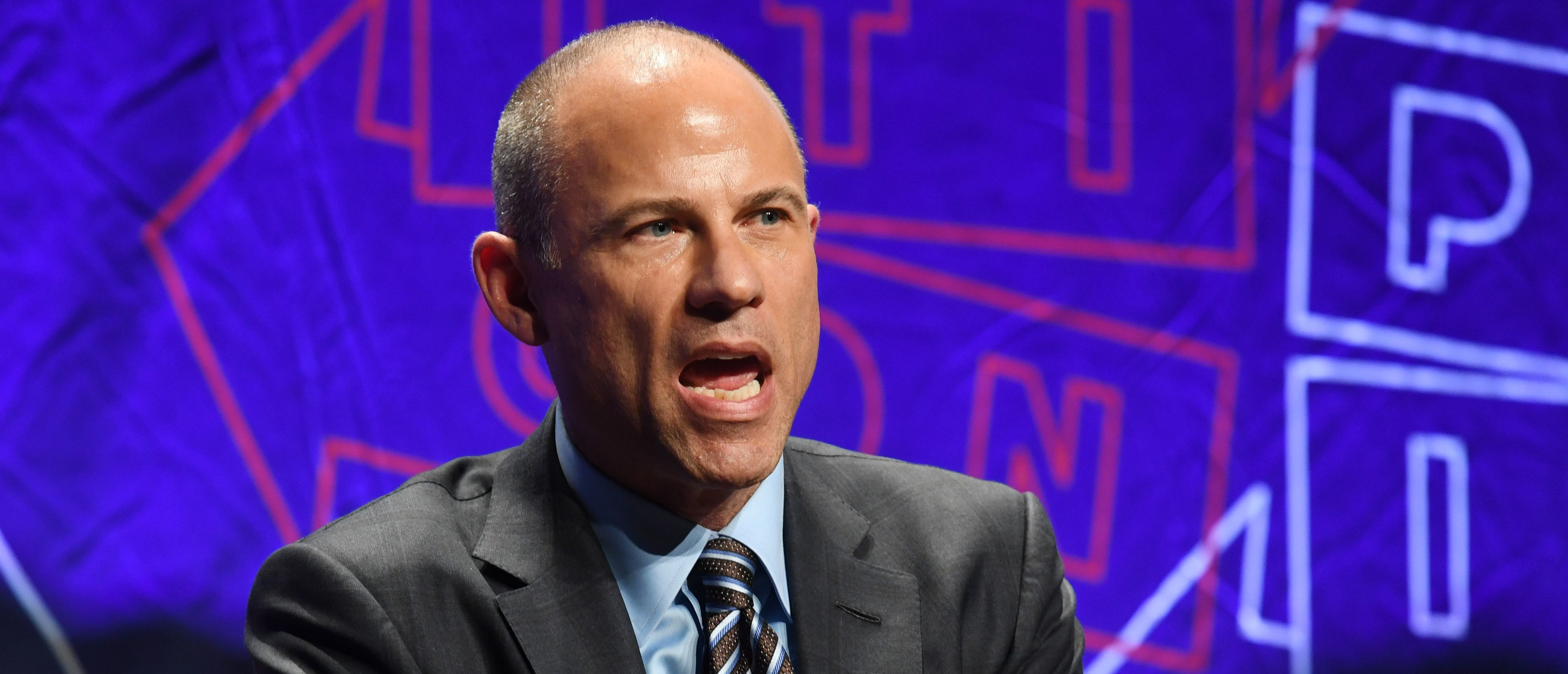 Attorney Michael Avenatti speaks at the 'How to Beat Trump' panel at the 2018 Politicon in Los Angeles, California on October 20, 2018. - The two day event covers all things political with dozens of high profile political figures. (Photo by Mark RALSTON / AFP) (Photo credit should read MARK RALSTON/AFP/Getty Images)