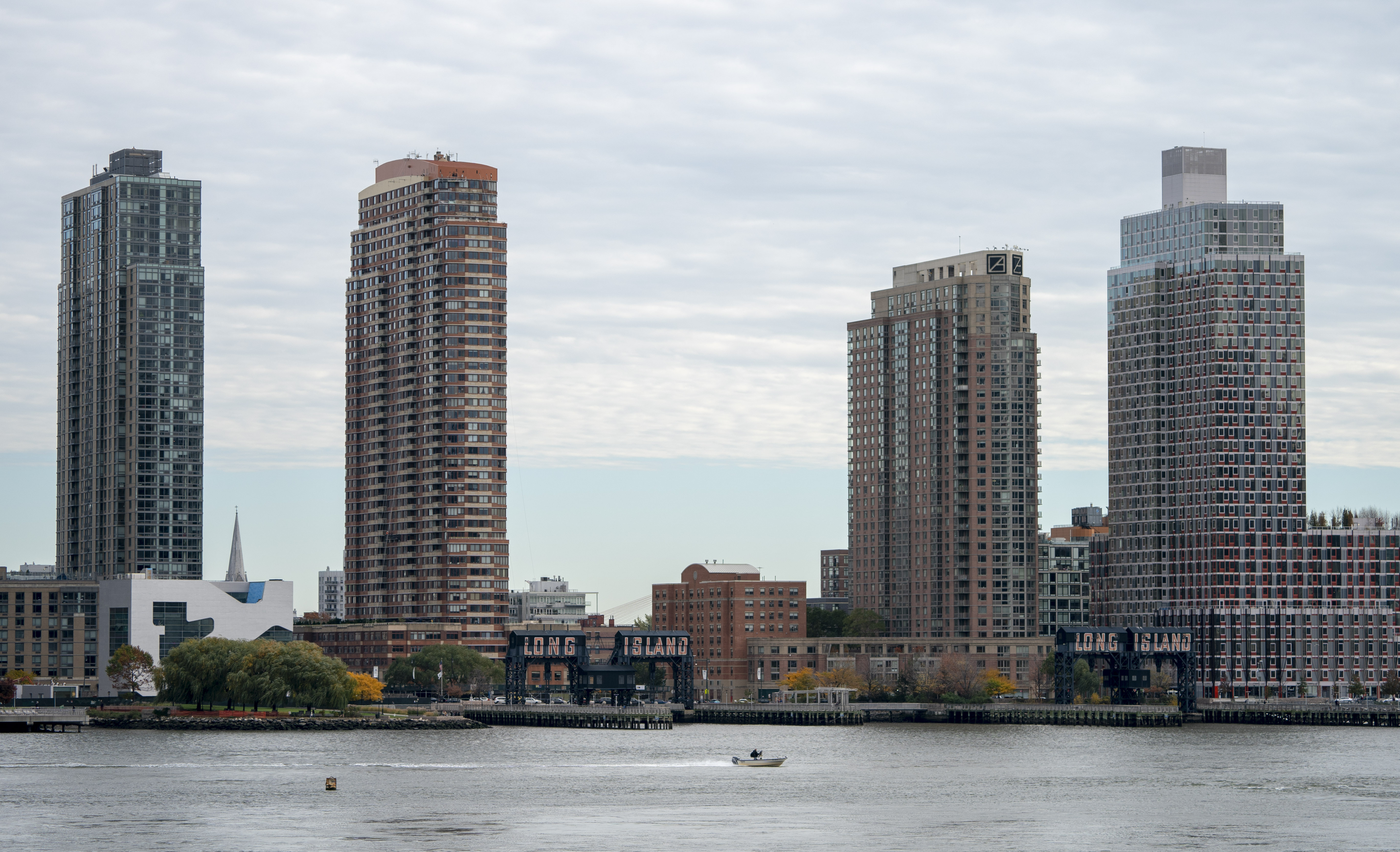 A view of Long Island City in the Queens borough of New York along the East River, taken from Manahattan, on November 7, 2018. DON EMMERT/AFP/Getty Images
