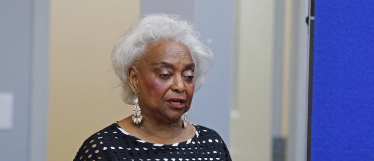 LAUDERHILL, FL - NOVEMBER 10: Dr. Brenda Snipes, Broward County Supervisor of Elections, makes a statement during a canvassing board meeting on November 10, 2018 in Lauderhill, Florida. Three close midtern election races for governor, senator, and agriculture commissioner are expected to be recounted in Florida. (Photo by Joe Skipper/Getty Images)