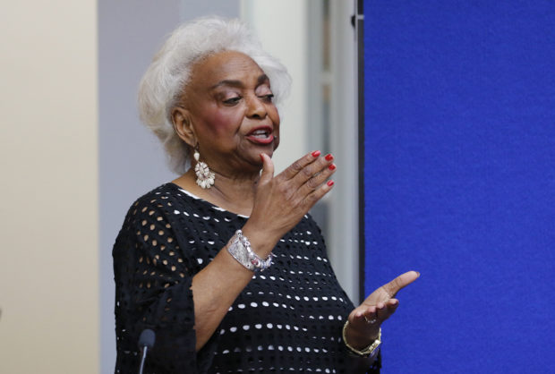 LAUDERHILL, FL - NOVEMBER 10: Dr. Brenda Snipes, Broward County Supervisor of Elections, makes a statement during a canvassing board meeting on November 10, 2018 in Lauderhill, Florida. Three close midterm election races for governor, senator, and agriculture commissioner are expected to recounted in Florida. (Photo by Joe Skipper/Getty Images)