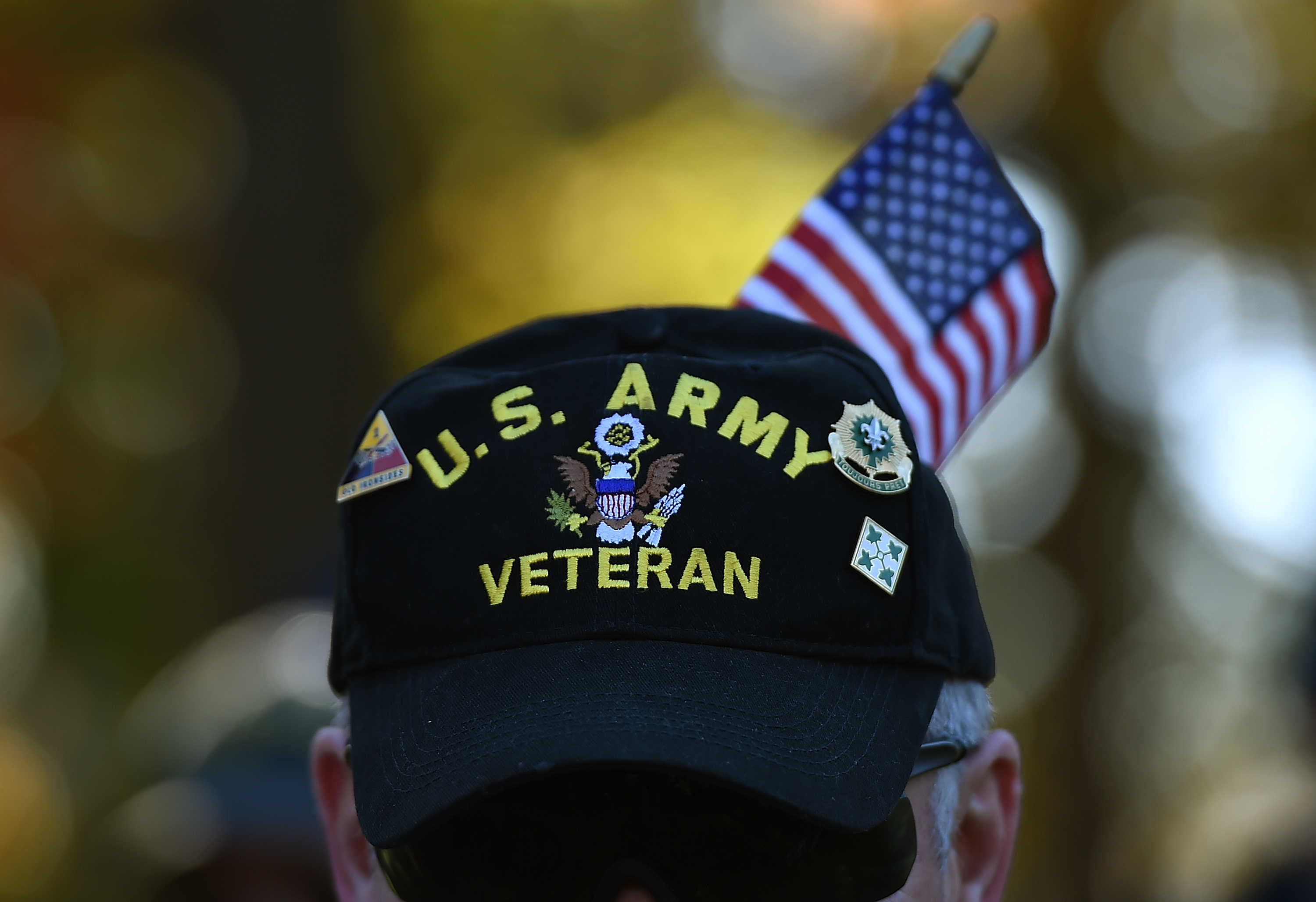 Gulf War veteran Bill Virill, retires U.S. Army, attends a Veterans Day ceremony at the Vietnam Veterans Memorial November 11, 2014 in Washington, DC. Win McNamee/Getty Images
