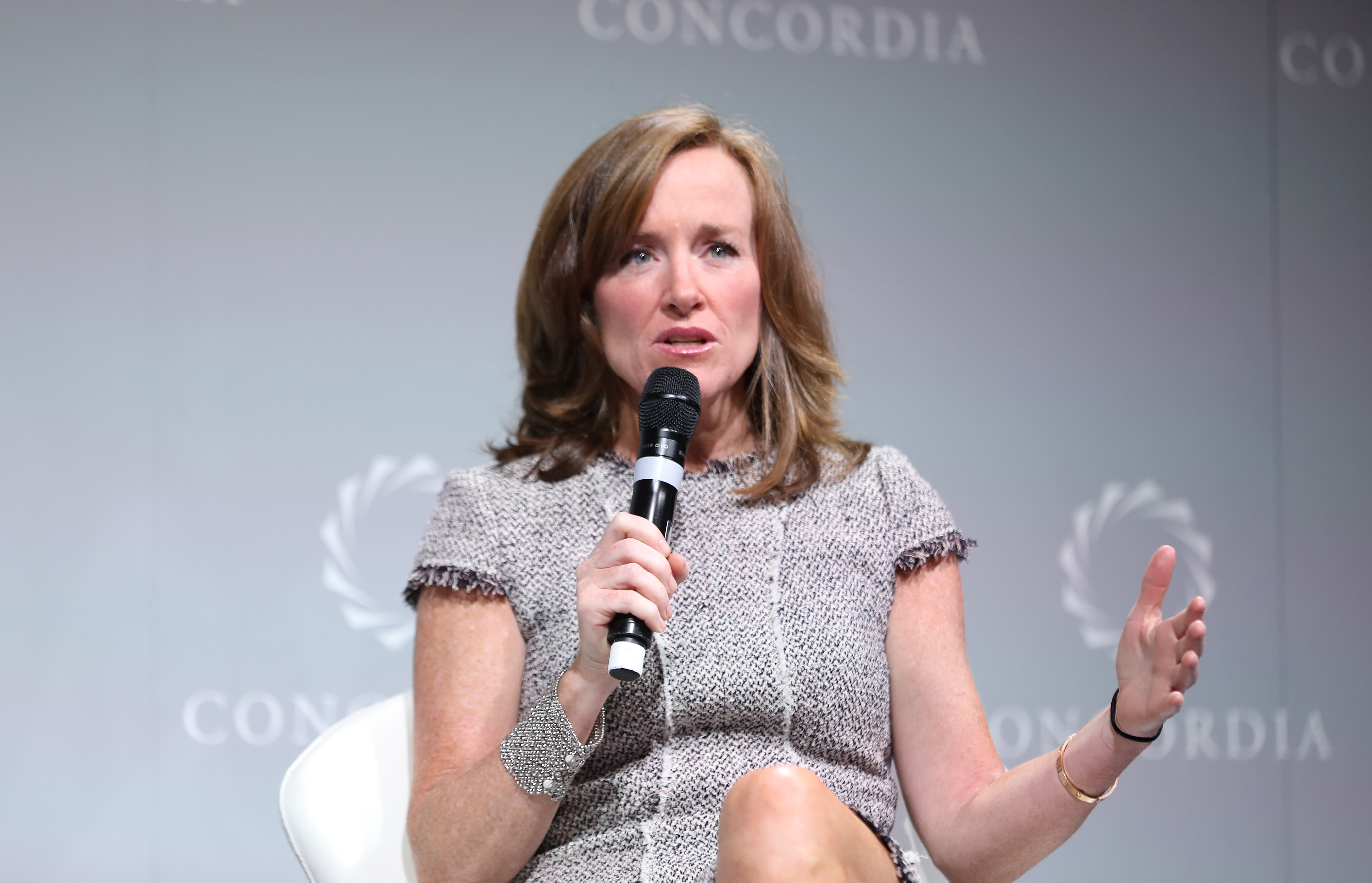 Member of the United States of House of Representatives from New York Kathleen Rice speaks at the 2016 Concordia Summit - Day 1 at Grand Hyatt New York on September 19, 2016 in New York City. Ben Hider/Getty Images for Concordia Summit