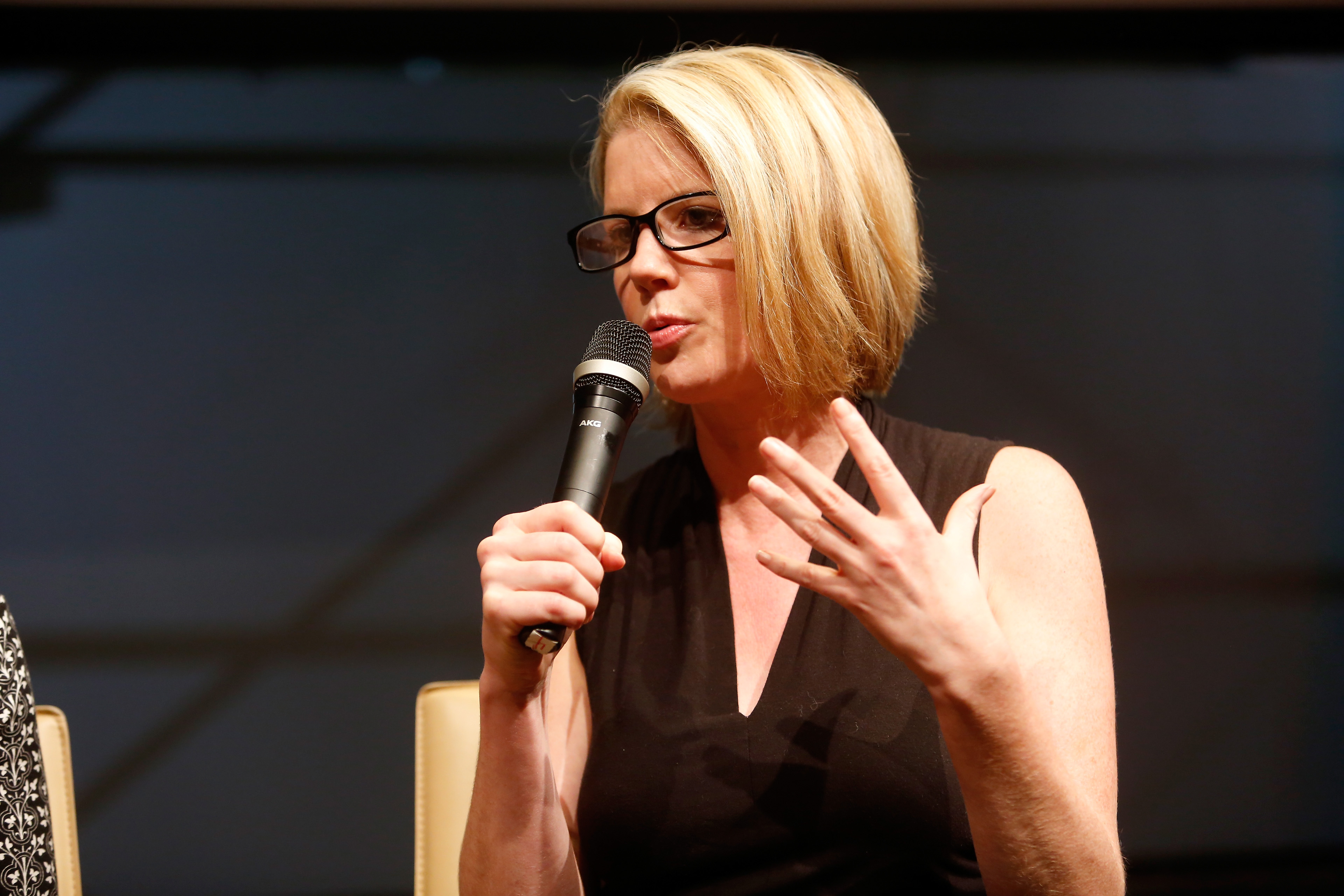 NEW YORK, NY - OCTOBER 27: Kirsten Powers speaks during NYT Mag Live: A Special Politics Edition at Neuehouse on October 27, 2016 in New York City. (Photo by Thos Robinson/Getty Images for New York Times)
