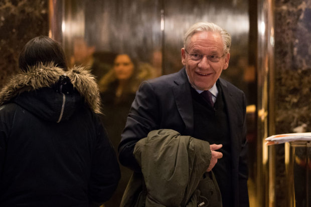 NEW YORK, NY - JANUARY 3: Journalist Bob Woodward arrives at Trump Tower, January 3, 2017 in New York City. President-elect Donald Trump and his transition team are in the process of filling cabinet and other high level positions for the new administration. (Photo by Drew Angerer/Getty Images)