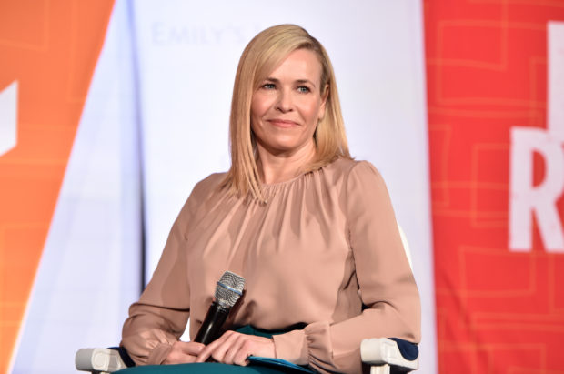 LOS ANGELES, CA - FEBRUARY 27: Chelsea Handler speaks onstage at EMILY's List Pre-Oscars Brunch and Panel on February 27, 2018 in Los Angeles, California. (Photo by Alberto E. Rodriguez/Getty Images)