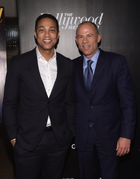 NEW YORK, NY - APRIL 12: Don Lemon and Michael Avenatti attend The Hollywood Reporter's Most Powerful People In Media 2018 at The Pool on April 12, 2018 in New York City. (Photo by Ben Gabbe/Getty Images)