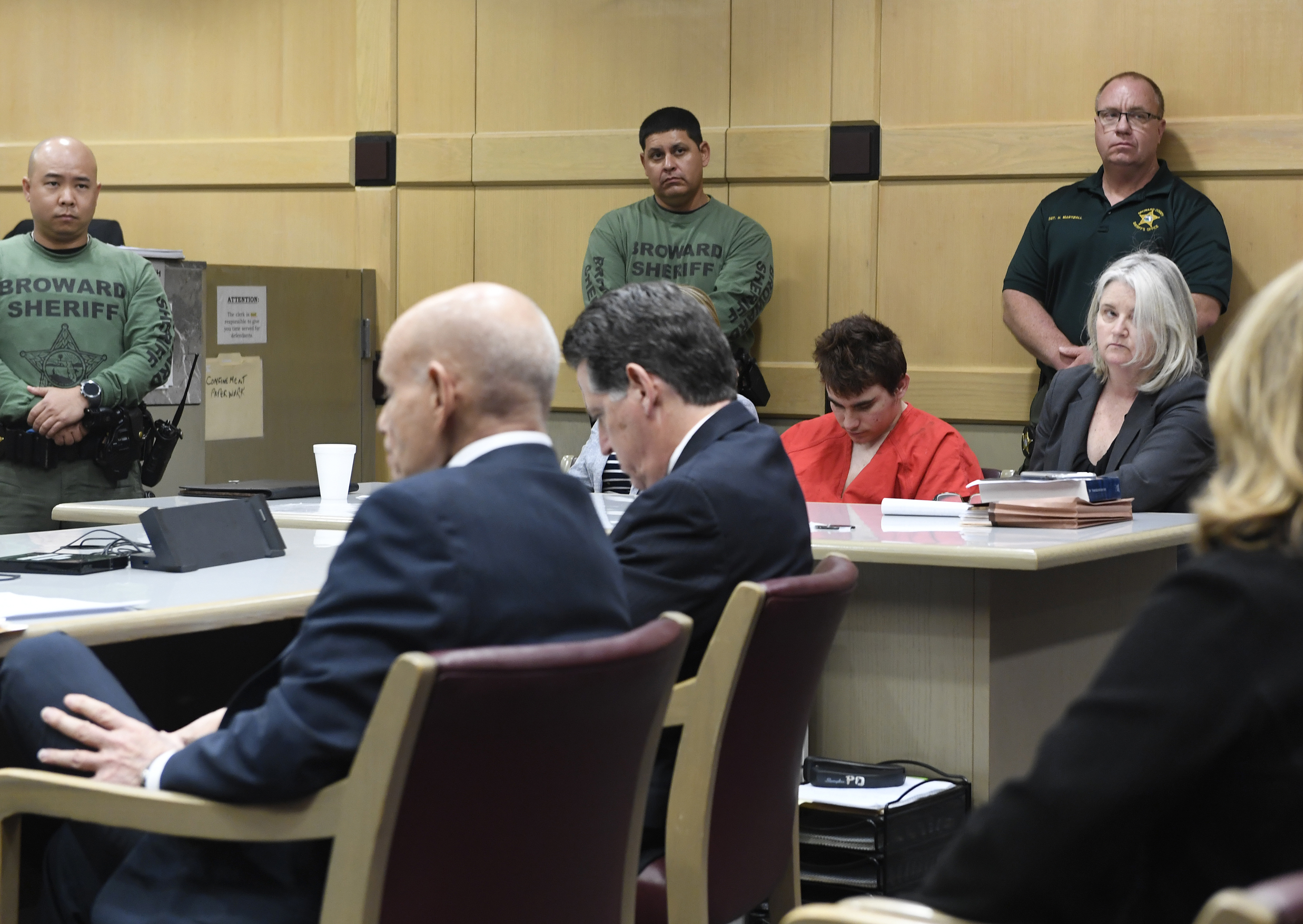Florida school shooting suspect Nikolas Cruz sits in court during a hearing on April 27, 2018, in Fort Lauderdale, Florida. Taimy Alvarez-Pool/Getty Images