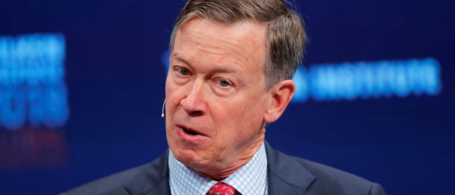 John Hickenlooper Governor, Colorado speaks at the Milken Institute 21st Global Conference in Beverly Hills, California, U.S., May 1, 2018. REUTERS/Mike Blake