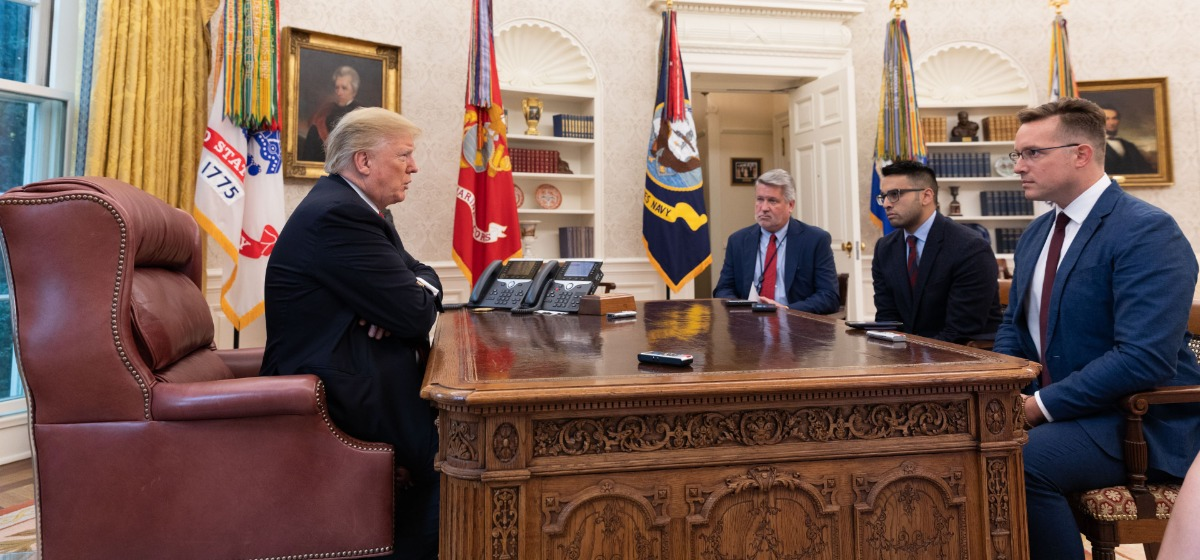 Official White House Photo by JoycDrinking A Diet Coke With Trump In The Oval Office [Official White House Photo by Joyce N. Boghosian]e N. Boghosian