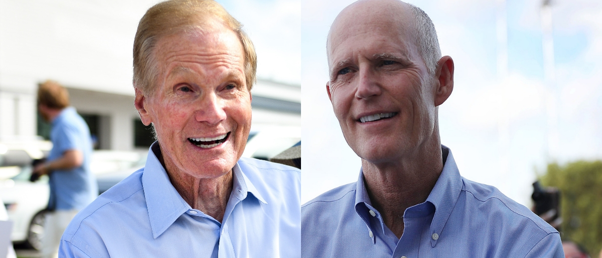 Bill Nelson and Rick Scott are facing off to represent Florida in the Senate. Jeff J Mitchell/Getty Images and Joe Raedle/Getty Images