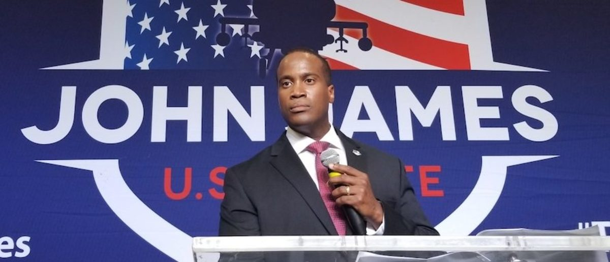 Michigan Senate candidate John James defeated incumbent Democratic Sen. Debbie Stabenow in the Michigan U.S. Senate election Tuesday night. (Photo Obtained By TheDCNF)