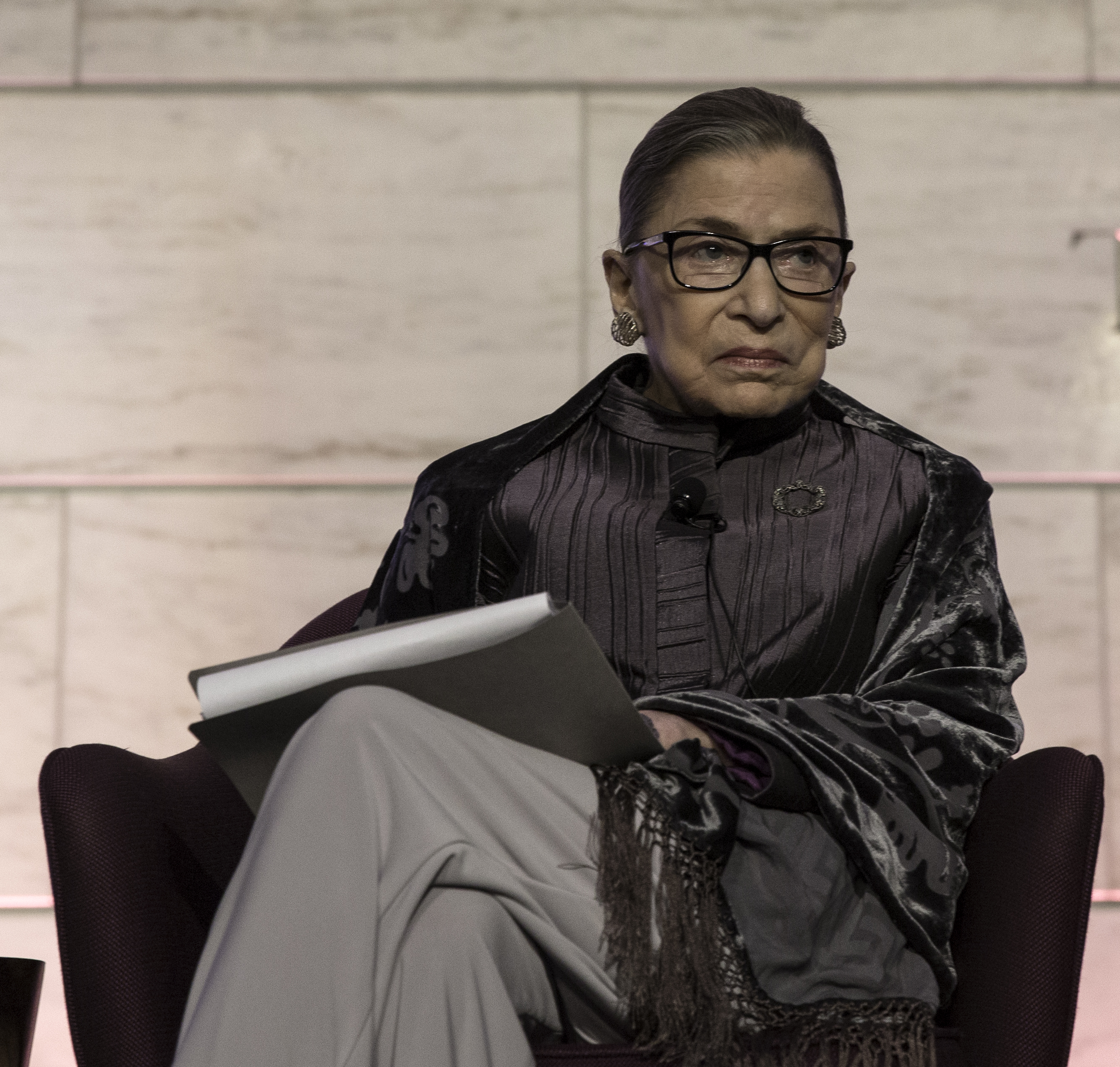 "Justice Ruth Bader Ginsburg appears in 2016 at a Smithsonian event called ""Legal Eats: Food and Culture of the U.S. Supreme Court"" (Credit: National Museum of American History)"