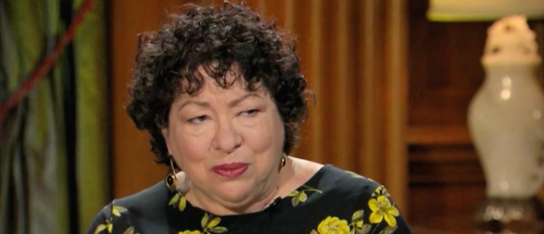 Justice Sonia Sotomayor speaks with David Axelrod in November 2018. (Screenshot/CNN)