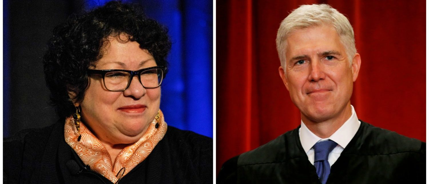 In This Case, It's Neil Gorsuch And Sonia Sotomayor Against The Rest