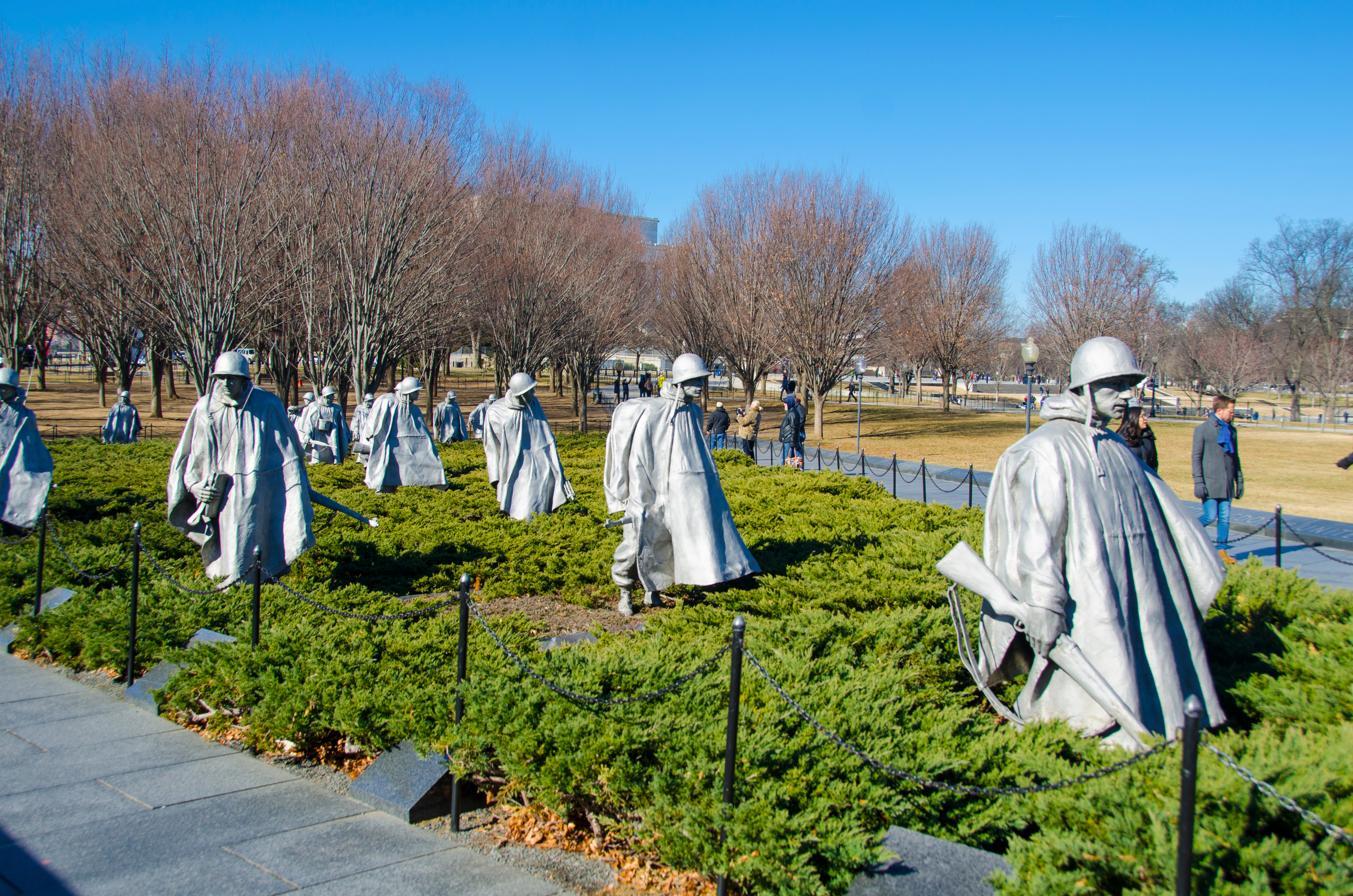 Korean War Veterans Memorial in Washington D.C. SHUTTERSTOCK/Cristi Popescu