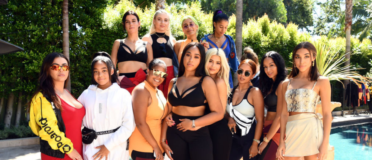 WEST HOLLYWOOD, CA - AUGUST 29: (Top L-R) Victoria Villarroel, Lexy Jay, Amber Asaly, Sami Miro (Bottom L-R) Hrush Achemyan, Jodie Woods, Elizabeth Woods, Jordyn Woods, Kylie Jenner, Yris Palmer, Draya Michele, and Chantel Jeffries attend the launch event of the activewear label SECNDNTURE by Jordyn Woods at a private residence on August 29, 2018 in West Hollywood, California. SECNDNTURE by Jordyn Woods will be available August 30th on secndnture.com. (Photo by Emma McIntyre/Getty Images for SECNDNTURE)