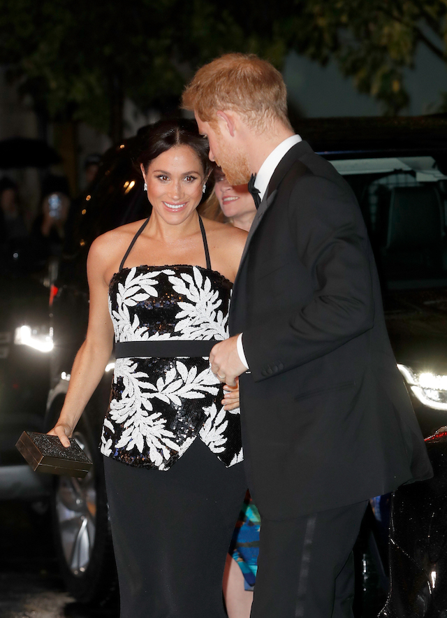 The Duke and Duchess of Sussex arrive at The Royal Variety Performance 2018 at London Palladium on November 19, 2018 in London, England. (Photo by Chris Jackson/Chris Jackson/Getty Images)