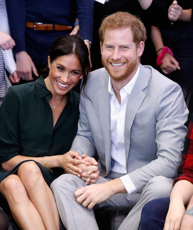 Meghan, Duchess of Sussex and Prince Harry, Duke of Sussex make an official visit to the Joff Youth Centre in Peacehaven, Sussex on October 3, 2018 in Peacehaven, United Kingdom. The Duke and Duchess married on May 19th 2018 in Windsor and were conferred The Duke & Duchess of Sussex by The Queen. (Photo by Chris Jackson/Getty Images)