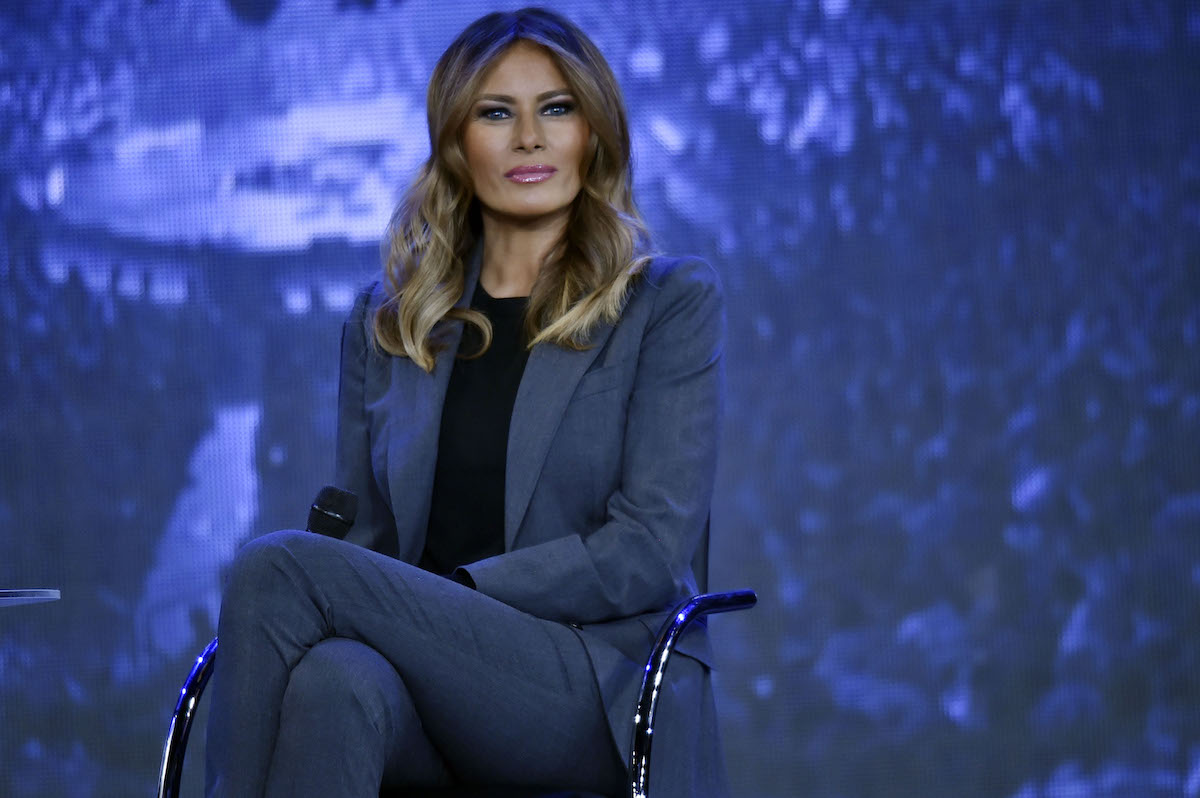 First Lady Melania Trump participates in a town hall meeting on opioids at Liberty University in Lynchburg, Virginia on November 28, 2018. (Photo credit: NICHOLAS KAMM/AFP/Getty Images)
