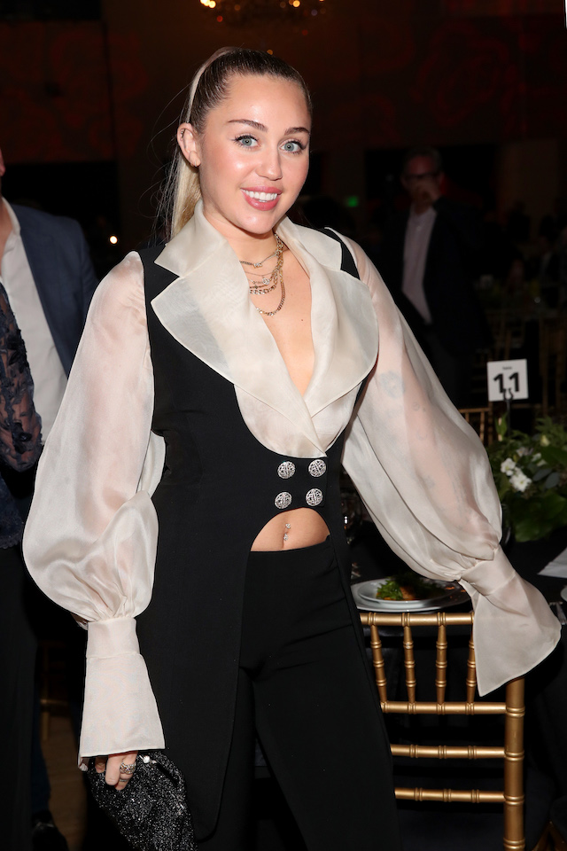 Miley Cyrus attends My Friend's Place 30th Anniversary Gala at Hollywood Palladium on April 7, 2018 in Los Angeles, California. (Photo: Getty Images)