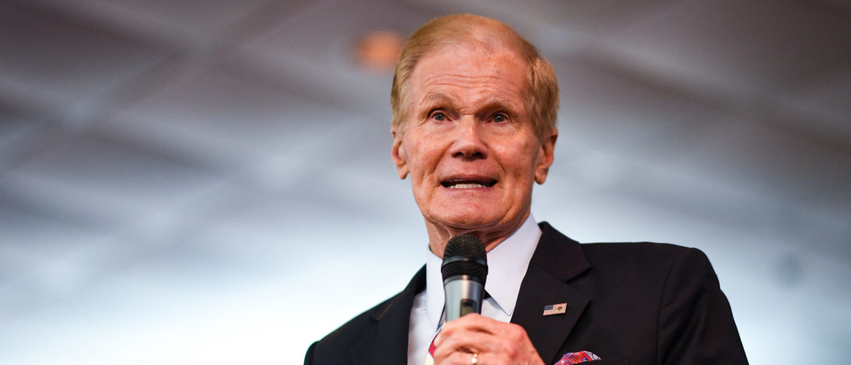 U.S. Sen. Bill Nelson (D-FL) campaigns at Orlando New Covenant Baptist Church on November 4, 2018 in Orlando, Florida. (Jeff J Mitchell/Getty Images)