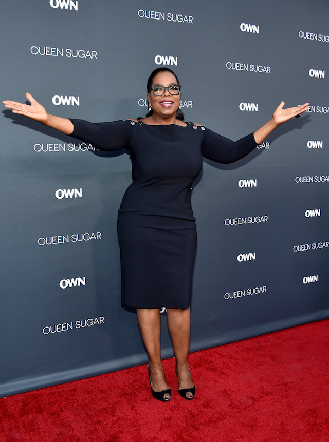 Executive producer Oprah Winfrey attends OWN: Oprah Winfrey Network's ?Queen Sugar? premiere at the Warner Bros. Studio Lot Steven J. Ross Theater on August 29, 2016 in Burbank, California. (Photo by Mike Windle/Getty Images)