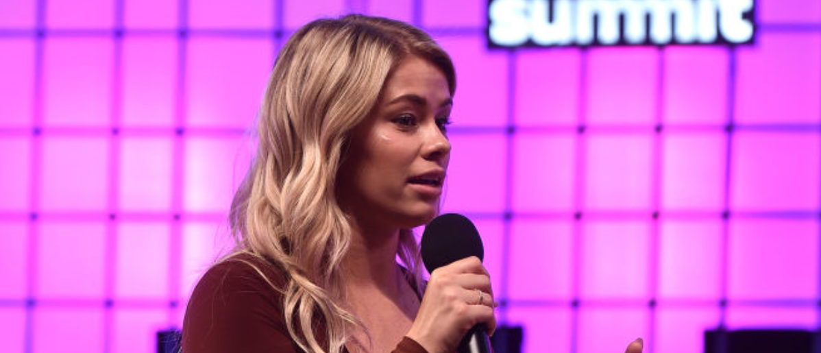 LISBON, PORTUGAL - NOVEMBER 08: Paige VanZant, UFC, on Centre Stage during day three of Web Summit 2018 at the Altice Arena on November 8, 2018 in Lisbon, Portugal. In 2018, more than 70,000 attendees from over 170 countries will fly to Lisbon for Web Summit, including over 1,500 startups, 1,200 speakers and 2,600 international journalists. (Photo by Sam Barnes /Web Summit via Getty Images)