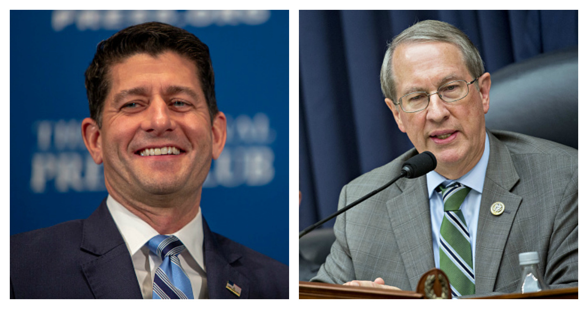 Paul Ryan - Bob Goodlatte Side By Side Tasos Katopodis and Andrew Harrer - Getty Images