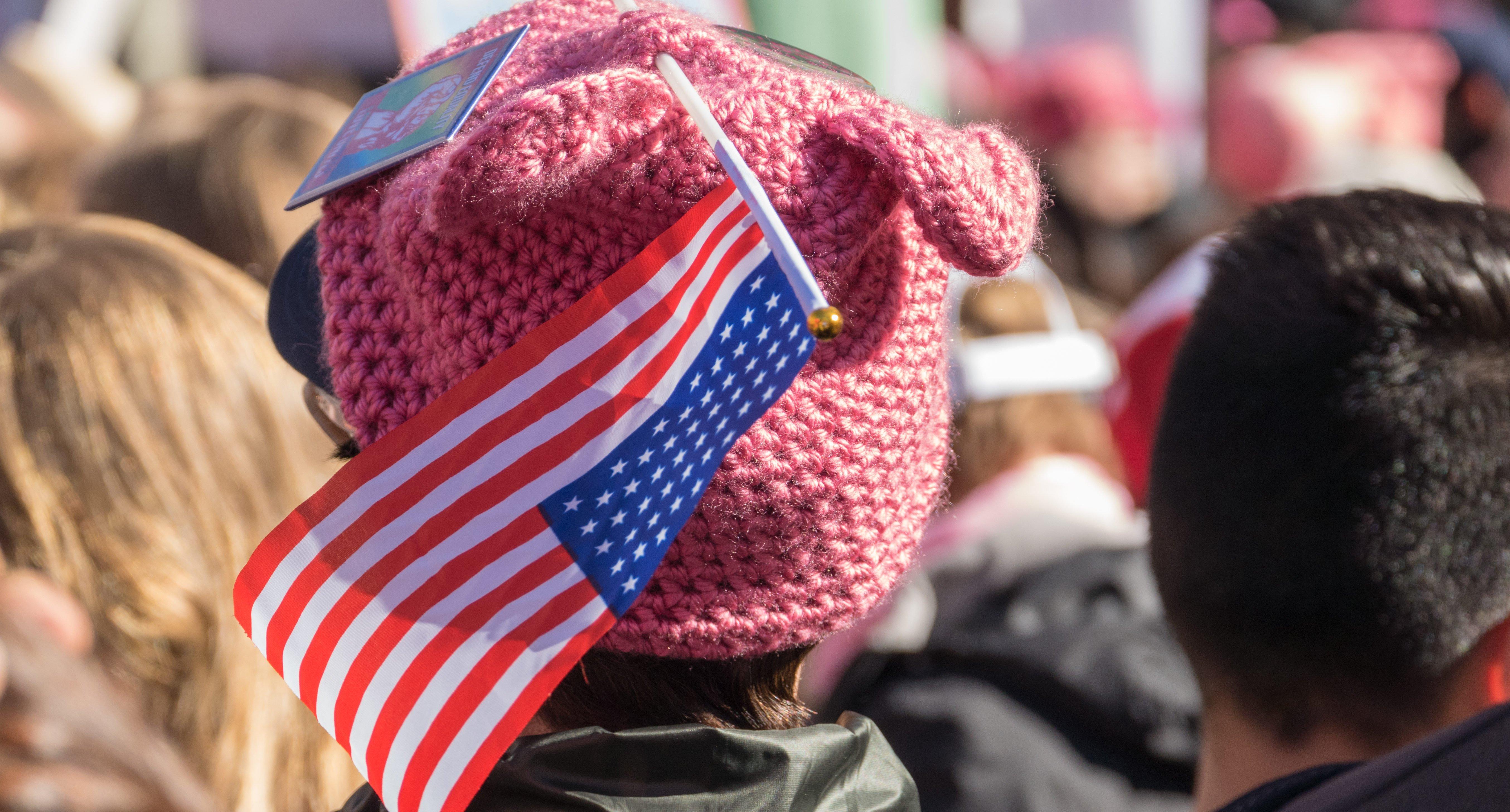 Pink Pussy Hat (Shutterstock/Karl Sonnenburg)