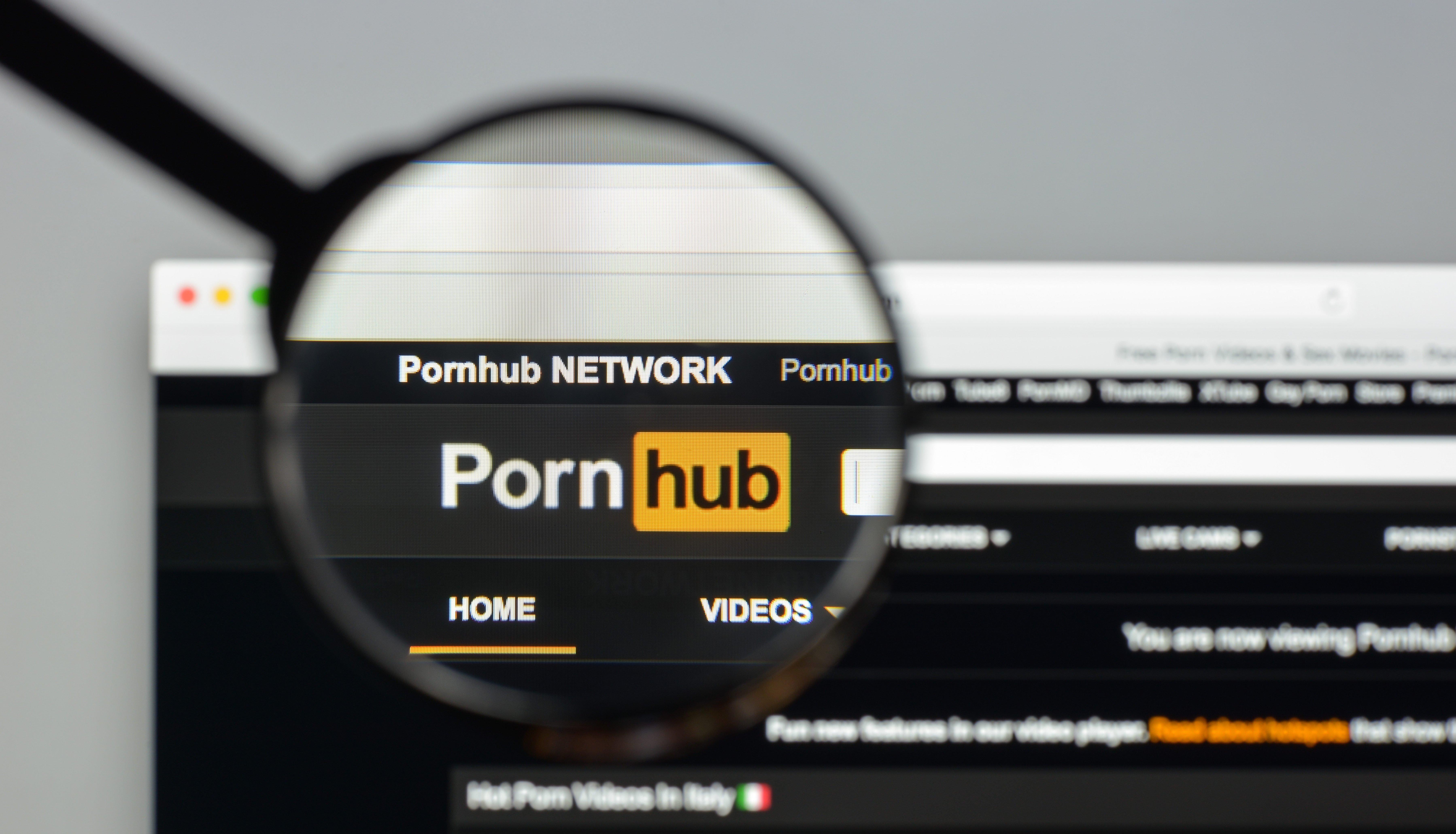 PornHub website. Shutterstock