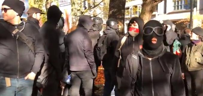 Portland Antifa and HimToo demostrations (screengrab)