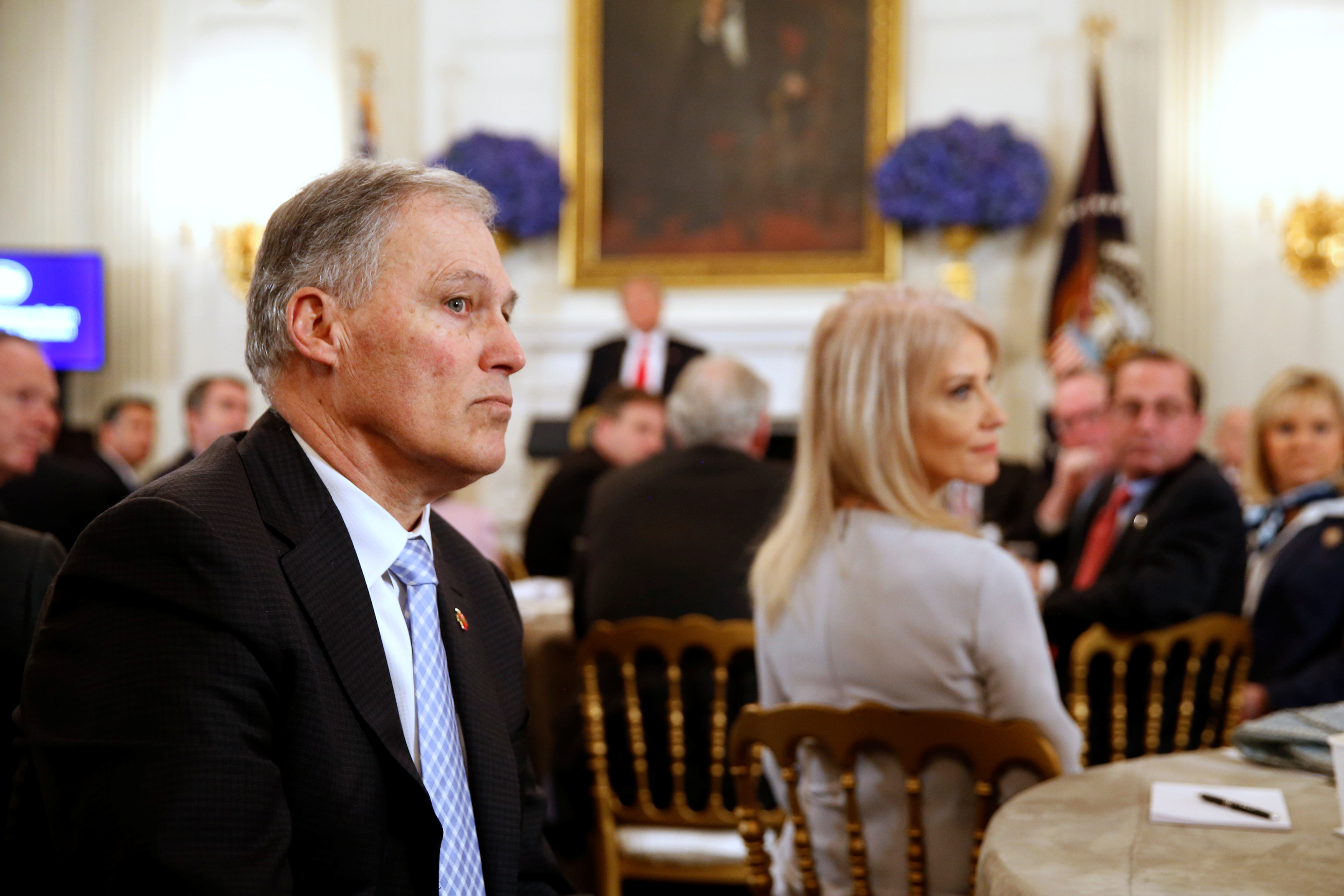 Trump holds a discussion about school shootings with state governors from around the country at the White House in Washington
